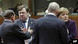四国领导人12月16日在欧盟峰会上