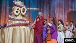 5일 미국 캘리포니아주 애너하임에서 달라이 라마의 80세 생일 축하 행사가 열렸다.