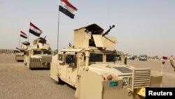 Các lực lượng Iraq tiến vào Mosul để giành lại cứ địa này từ tay Nhà nước Hồi giáo ngày 21/2/2016.