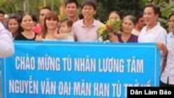 Tù nhân lương tâm Nguyễn Văn Oai được tự do ngày 2/8/2015. (Ảnh: Dân Làm Báo)