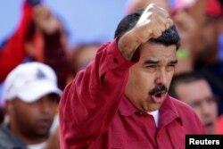 FILE - Venezuela's President Nicolas Maduro in Caracas, Venezuela, Aug. 14, 2017.