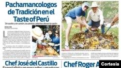 La Pachamanca tradicional plato elaborado bajo tierra y cuya cocción de carnes y verduras se producen bajo piedras calientes.