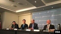 全球台湾研究所专家讨论川普政府的台湾政策(美国之音钟辰芳拍摄)
