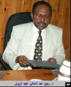 Dr. Rabie Abdelati Obeid is prominent member of Sudan's dominant National Congress Party (NCP)