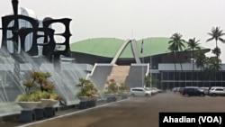 Kompleks gedung DPR/MPR RI, Senayan, Jakarta. (VOA/Ahadian Utama)