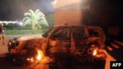 بن غازی میں امریکی قونصلیٹ پر حملے کے بعد کا ایک منظر