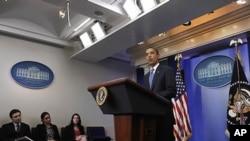 오바마 부재상한 증액 관련 기자회견(자료사진)