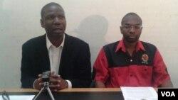 ZCTU leaders Japhet Moyo loMnu. Peter Mutasa.