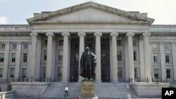 미국 워싱턴의 재무부 건물 (자료사진)