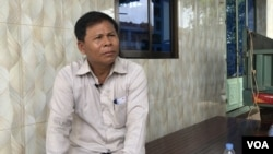 Sun Thun, a former official of former opposition Cambodia National Rescue Party (CNRP) was arrested by the police on June 1, 2020. (Sun Narin/VOA Khmer)