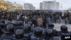 Россия. Москва. Центр города. Суббота 11 декабря 2010 года