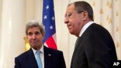 Джон Керри и Сергей Лавров. Москва, Кремль, 15 декабря 2015.