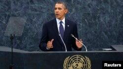 Барак Обама выступает в ООН