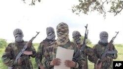 10月19号索马里青年党发言人在首都摩加迪沙南部发表声明