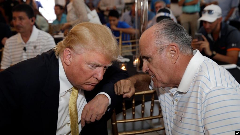 Дональд Трамп и Руди Джулиани