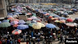 Une vue du marché Oluwole à Lagos au Nigeria, le 13 décembre 2016.