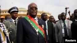 Le Président Roch Marc Kaboré après sa cérémonie de prise de serment à Ouagadougou, 29 décembre, 2015.