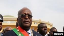 Le Président Roch Marc Kaboré du Burkina Faso après sa prestation de serment, à Ouagadougou, Burkina Faso, 29 décembre 2015.