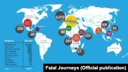 Migrant border-related deaths around the world, January–September 2014