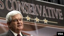 Newt Gingrich semakin naik daun sebagai calon presiden AS dari Partai Republik (foto: dok).