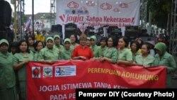 Kampanye Jogja tanpa kekerasan terhadap perempuan dan anak. (Foto:Pemprov DIY/dok)