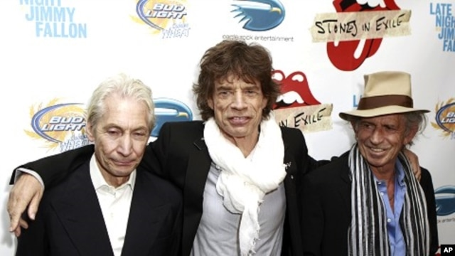 Rolling Stones band members (L-R) Charles Watts, Mick Jagger, and Keith Richards (file photo)