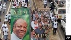 Manifestion de partisans du président Ali Bongo à Libreville.