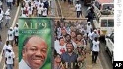 Manifestion de partisans du président Ali Bongo à Libreville. (Archives)