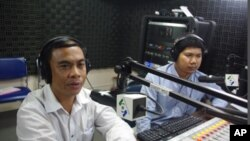 Long Khet, executive director of Youth for Peace, on 'Hello VOA' on Monday.