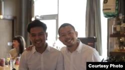 อรรจน์ แดนวงศ์ (ขวา) เจ้าของร้าน Curry Curry Thai ในนครแอตแลนตา รัฐจอร์เจีย