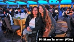 Sen.Tammy Duckworth (D-IL)and Chancee Martorell, executive director of the Thai CDC. May,16 2017.