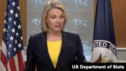 Juru bicara Deplu AS, Heather Nauert (48 tahun), dicalonkan sebagai Duta Besar Amerika di PBB.