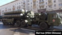 今年5月9日紅場閱兵前夕彩排中展示的S-400防空導彈