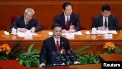Ông Chu Cường, chủ tịch Tòa án Nhân dân Tối cao Trung Quốc phát biểu trước Đại hội Đại biểu Nhân dân Toàn quốc vào ngày Chủ Nhật 12 tháng 3, 2017.