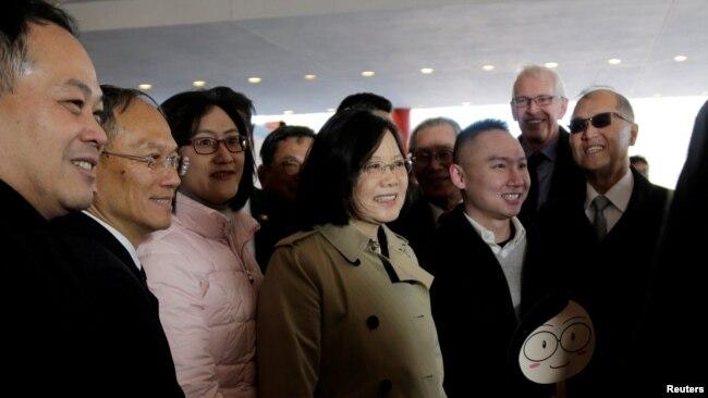 Bà Thái Anh Văn trong chuyến đi đến Houston, Mỹ, vào tháng 1/2017.