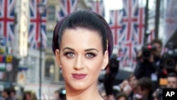 "U.S. singer Katy Perry at the European Premiere of her film ""Part of Me"" in London, July 3, 2012."