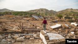 تصویری از روستای چممهر پلدختر بعد از وقوع سیل