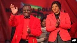 The late Morgan Richard Tsvangirai and his wife, Elizabeth.