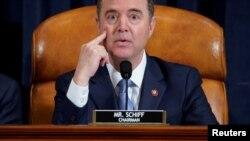 Le président du comité du renseignement de la Chambre des représentants , Adam Schiff , à Capitol Hill, à Washington, États-Unis. 15 novembre 2019. REUTERS / Joshua Roberts / Pool