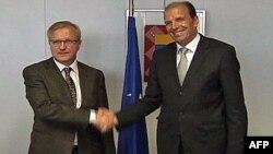 Evropski komesar za finansije i kosovski ministar finansija tokom susreta u Briselu