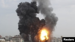 G'azo shahri Isroil hujumlaridan so'ng, 17-noyabr, 2012-yil.