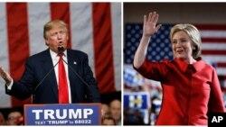 Ứng viên tổng thống đảng Cộng hòa Donald Trump và ứng viên tổng thống đảng Dân chủ Hillary Clinton.