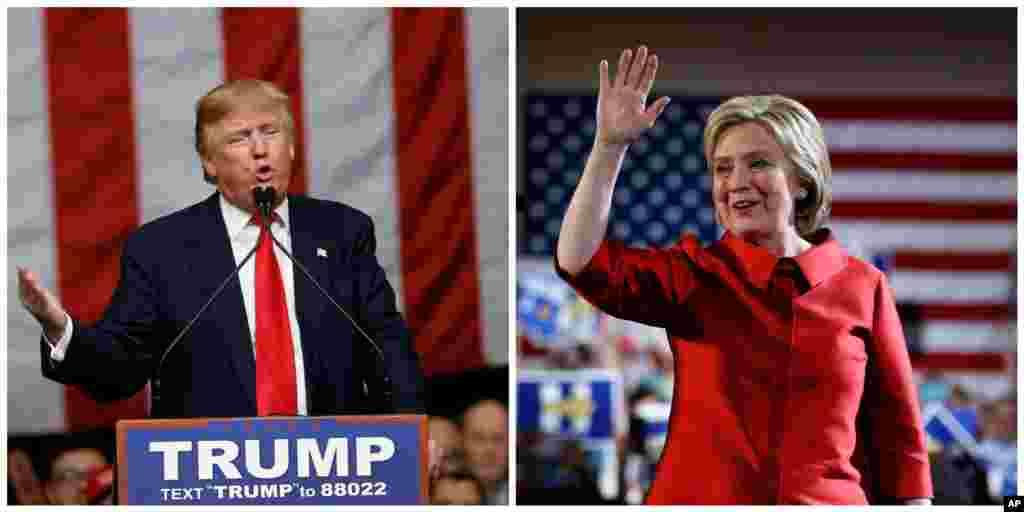 Donald Trump ve Hillary Clinton