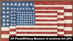 Jasper Johns' painting 1958 'Three Flags' was among the works chosen for the 'Art Everywhere.'