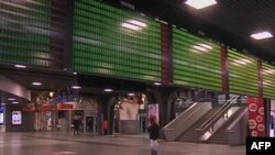Phi trường Brussels loan báo sẽ không có chuyến xe lửa hoặc xe buýt nào phục vụ hành khách trên đường tới phi trường.