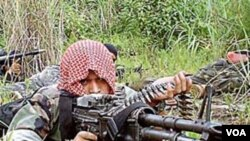 Tentara pemberontak di Filipina selatan.