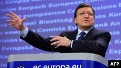 Predsednik Evropske komisije Žoze Manuel Barozo na konferenciji za novinare u Briselu