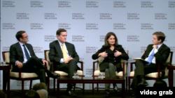 專家在美國外交關係協會座談會討論川普政府的中國政策 (美國外交關係協會網站視頻截圖)