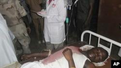 지난 8일 나이지리아 무장단체 보코하람이 대학에 자살 폭탄 공격을 가해 한 학생이 병원으로 후송되었다. (자료사진)