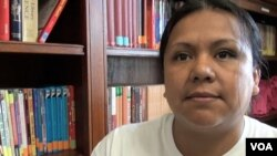 Maya, undocumented immigrant (D. Block/VOA)